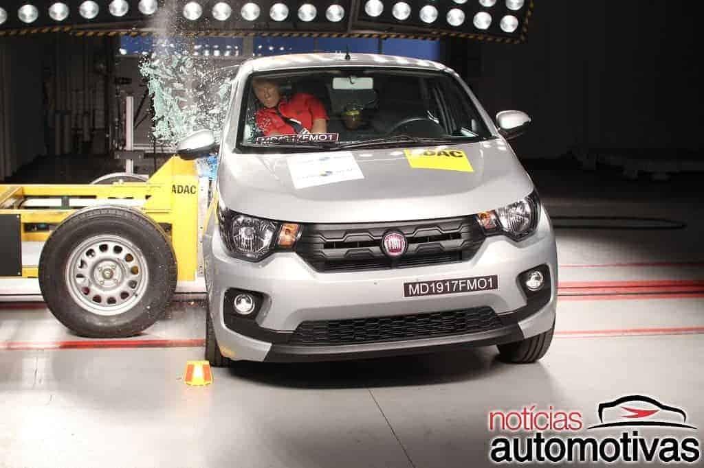 Fiat Mobi vai mal no teste de segurança do Latin NCap
