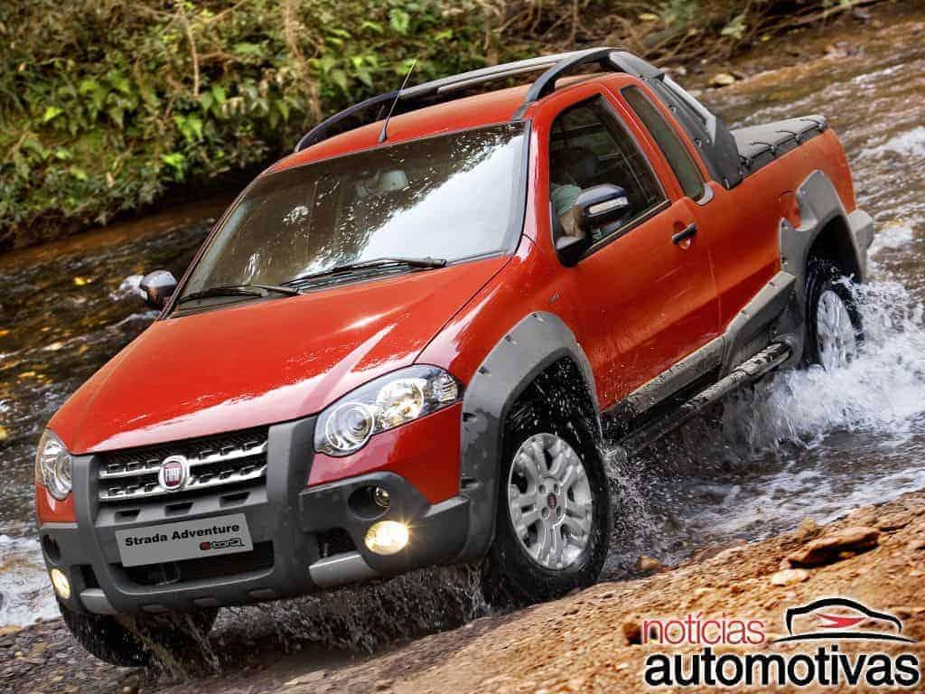 Fiat-Strada-Adventure-1.8-2009-1 Versões e anos mais baratos dos comerciais leves mais vendidos