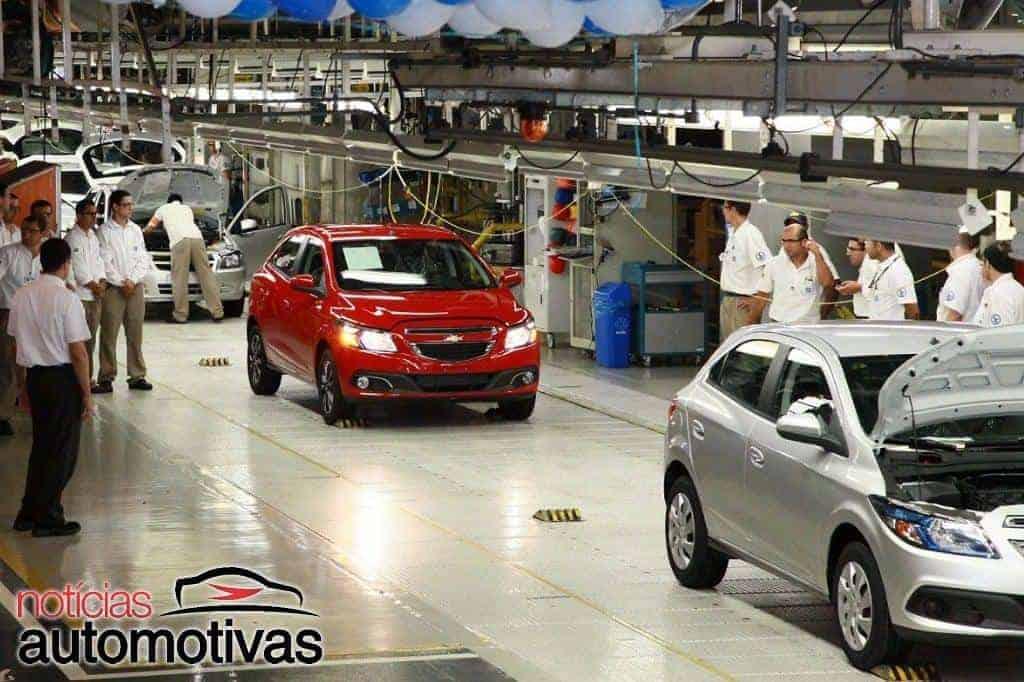 Linha de produção GM Gravataí