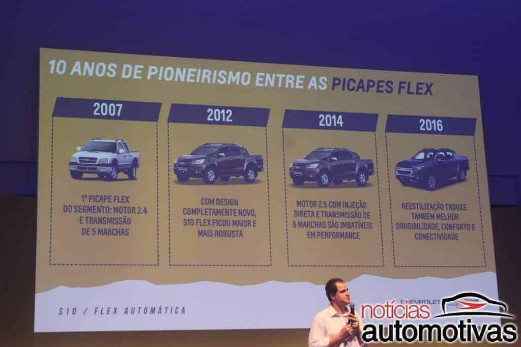 chevrolet-s10-automática-NA-4 Chevrolet S10 Flex Automática chega com preços a partir de R$ 107.990