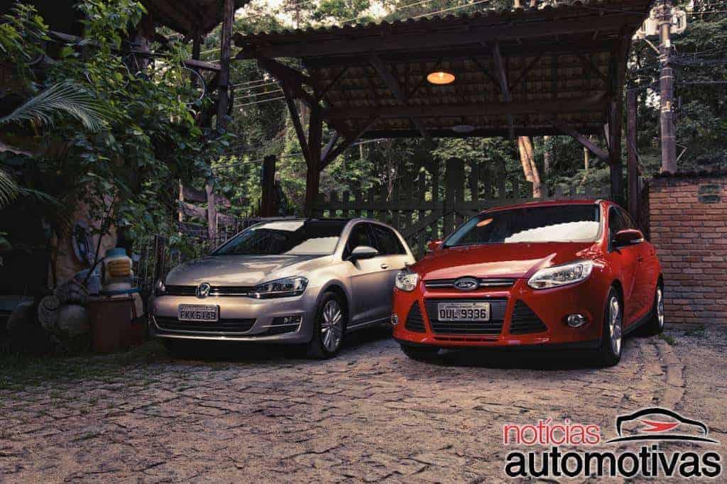 comparativo-volkswagen-golf-ford-focus-1 Golf e Focus no confronto da modernidade