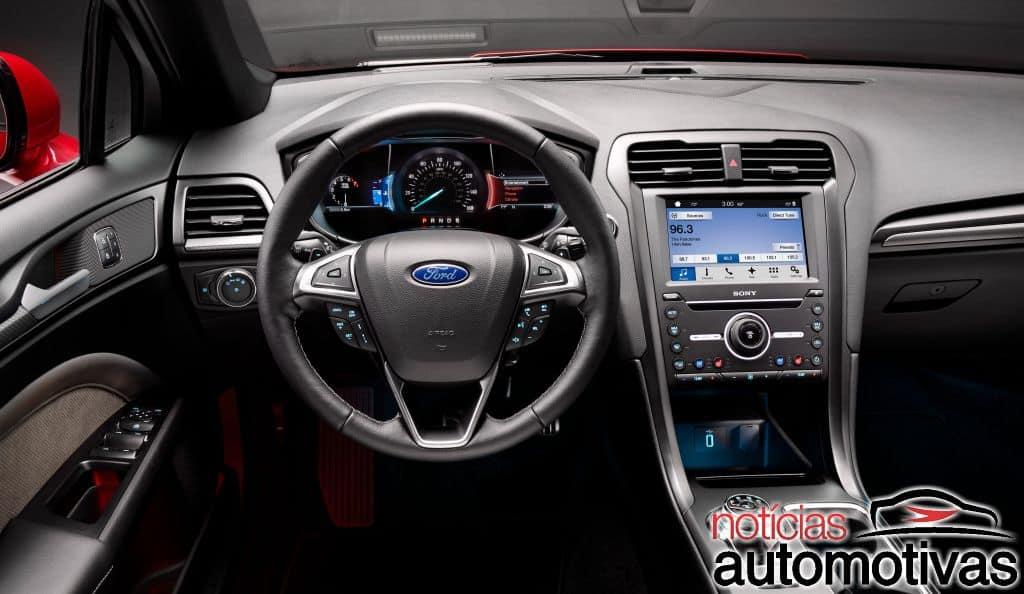 ford-fusion-2017-7 Ford Fusion 2017 recebe novo visual e versão Sport de 330 cv