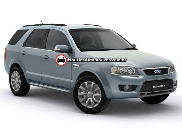 ford-territory-facelift-2009-2 Ford Territory 2009 aparece com facelift no Salão de Melbourne