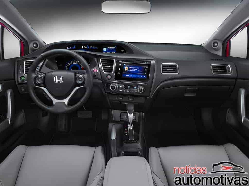 Honda civic 2014 ganha c mbio cvt para disputar com novo - 2016 honda civic si coupe interior ...