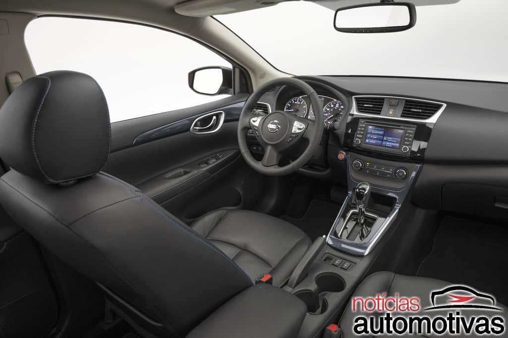 nissan-sentra-2016-reestilizado-16 Nissan Sentra 2016 é apresentado com novo visual em Los Angeles