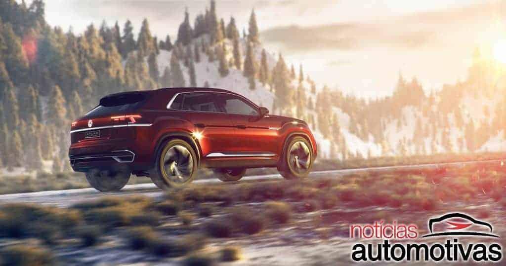 vw-atlas-cross-sport-1 Volkswagen Atlas Cross Sport Concept é revelado para Nova Iorque