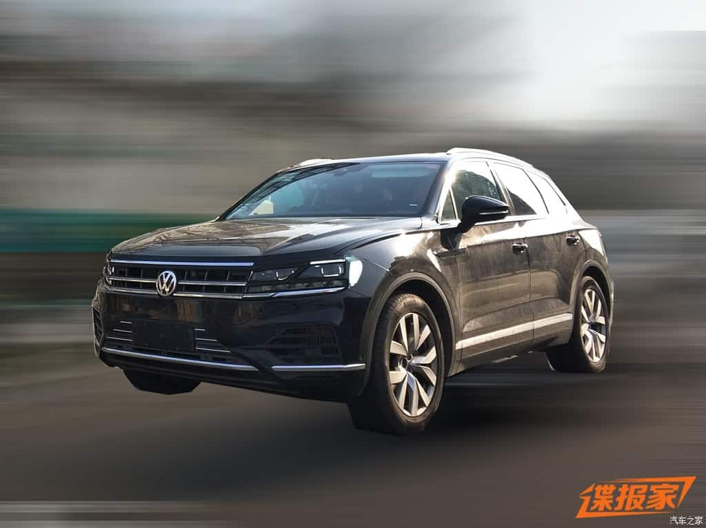 vw touareg china 1 - Volkswagen Touareg 2019 é flagrado na China